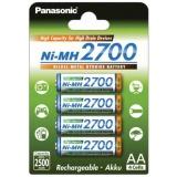 Baterie nabíjecí Panasonic AA, HR06, 2700mAh, Ni-MH, blistr 4ks