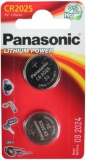 Baterie lithiová Panasonic CR2025, blistr 2ks