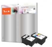 Inkoustová náplň Peach Canon PG-545XL/CL-546XL, 765 stran, kompatibilní - černá/červená/modrá/žlutá