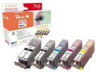 Inkoustová náplň Peach Canon PGI-570XL/CLI-571XL, 975 stran, kompatibilní - černá/červená/modrá/žlutá