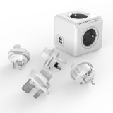 Cestovní adaptér Powercube Rewirable USB + Travel Plugs - šedý