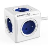 Kabel prodlužovací Powercube Extended, 5x zásuvka, 1,5m - bílý/modrý