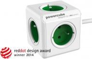 Kabel prodlužovací Powercube Extended, 5x zásuvka, 1,5m - zelená