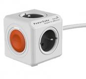 Zásuvka Powercube Extended Remote, 4x zásuvka. 1,5m - bílá