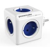 Rozbočovací zásuvka Powercube Original 5x zásuvka - bílá/modrá