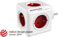Rozbočovací zásuvka Powercube Original 5x zásuvka - bílá/červená