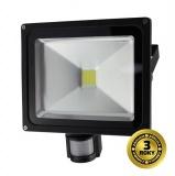 LED reflektor Solight 30W, studená bílá, 2100lm, se senzorem - černý