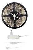 LED pásek Solight 4,8 W/m, studená bílá 6000K, adaptér s vypínačem