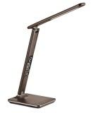 Stolní LED lampička Solight WO45-H s displejem, volba teploty světla, 9W - hnědá