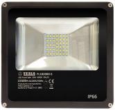 LED reflektor Tesla 20W, studená bílá, 1550lm - černý