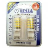 Žárovka LED Tesla bodová, 3W, G9, studená bílá