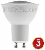 Žárovka LED Tesla bodová, 5W, GU10, teplá bílá