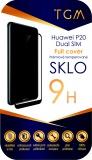 Ochranné sklo TGM Full Cover pro Huawei P20 Dual SIM - černé