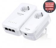 Síťový rozvod LAN po 230V TP-Link TL-WPA8630PKIT + IP TV na 1 měsíc ZDARMA 1200 Mb/s, průchozí
