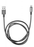 Kabel Verbatim Sync & Charge USB/Lightning, 1m, MFi, nerezová ocel - šedý