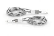 Kabel Verbatim USB/Lightning, 1m + 1m - stříbrný