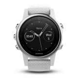 GPS hodinky Garmin Fenix 5S - stříbrné/bílé