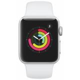 Chytré hodinky Apple Watch Series 3 GPS 38mm pouzdro ze stříbrného hliníku - bílý sportovní řemínek