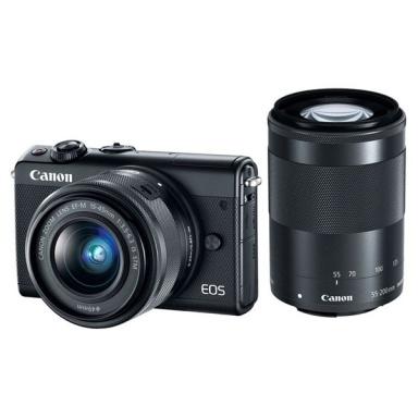 CSC fotoaparát Canon EOS M100 + EF-M 15-45 IS STM + EF-M 55-200 IS STM