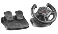 Volant Trust Compact Racing Wheel / 2 pedály / 100° / feedback / 13 tlačítek / USB