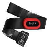 Hrudní pás Garmin HRM RUN2 pro běh s měřením běžecké dynamiky - černý/červený