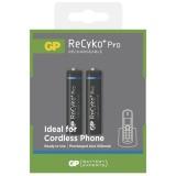 Baterie nabíjecí GP ReCyko+ Pro DECT, AAA, HR03, 650mAh, Ni-MH, krabička 2ks