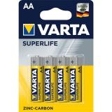 Baterie zinkouhlíková Varta Superlife AA, R06, blistr 4ks