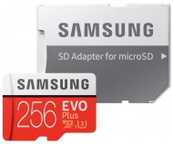 Paměťová karta Samsung Micro SDXC EVO+ 256GB UHS-I U3 (100R/90W) + adapter