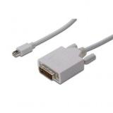 Kabel Digitus minDisplayPort - DVI(24+1), 2m - bílý