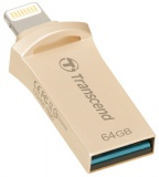 Flash USB Transcend JetDrive Go 500 64GB USB 3.1 - stříbrný