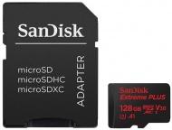 Paměťová karta Sandisk Micro SDXC Extreme Plus 128GB UHS-I U3 (100R/90W) + adapter