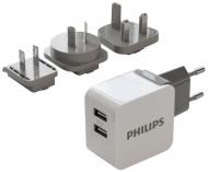 Nabíječka do sítě Philips DLP2220, 2x USB, 3,1A - černá