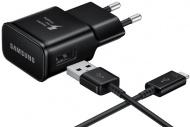 Nabíječka do sítě Samsung EP-TA20EBE, 1x USB, 2A, s funkcí rychlonabíjení + USB-C kabel - černá