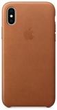 Kryt na mobil Apple Leather Case pro iPhone X - sedlově hnědý