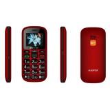 Mobilní telefon Aligator A321 Senior Dual SIM - černý/červený