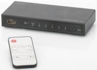HDMI přepínač Digitus 5x1, podpora 4K + dálkové ovládání
