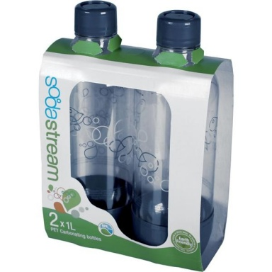 Láhev SodaStream plastová šedá 1l (2ks)