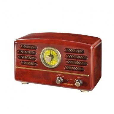 Radiopřijímač Hyundai RA 202 RETRO, čokoláda