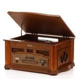 Gramofon s CD Hyundai RTC 315 RETRO, FM tuner, kávová
